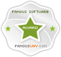 The Famous Software Award has been initiated by FamousWhy.com to recognize Famous Software, 