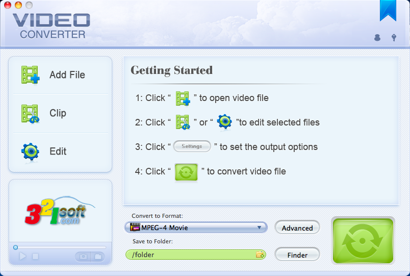 321Soft Video Converter for Mac 3.4.1