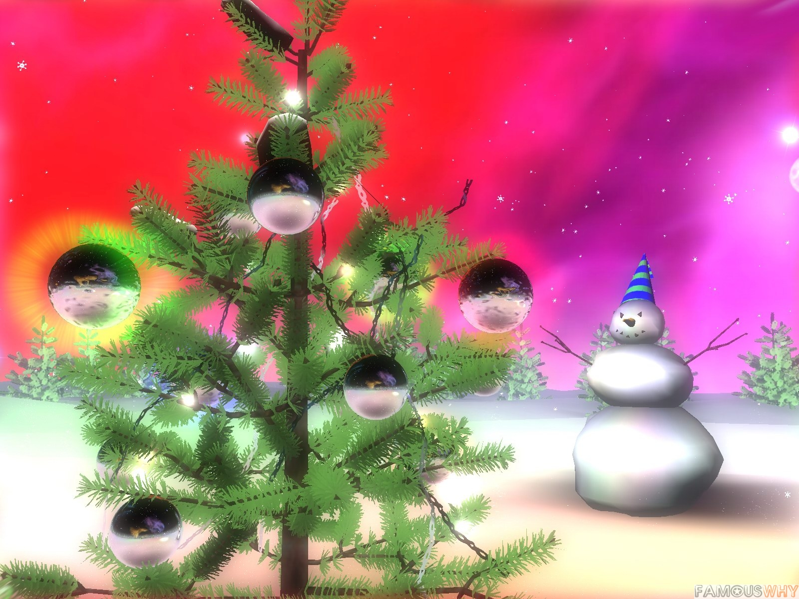 3D Space Christmas Screensaver 2010.1