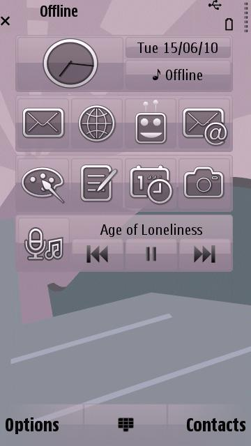 Android v4 Theme for Symbian S60 3rd/5th Edition