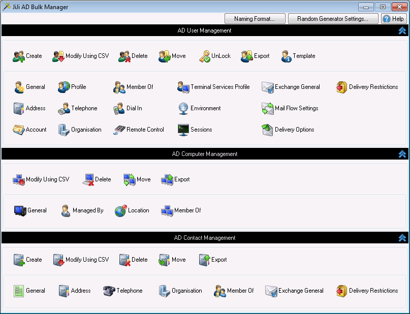 Active Directory Bulk Manager 2.0.0.9