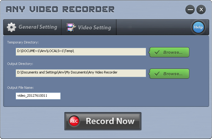 Any Video Recorder 1.0.2