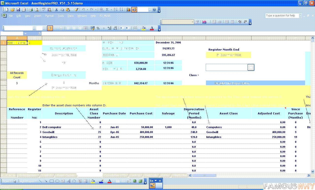 Asset Accounting With MACRS For Excel