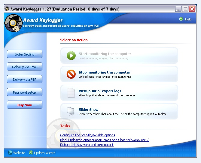 Скачать Award Keylogger ключ crack 2.18 - следить за.