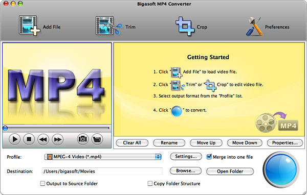 Bigasoft MP4 Converter for Mac 2.2.4.3911