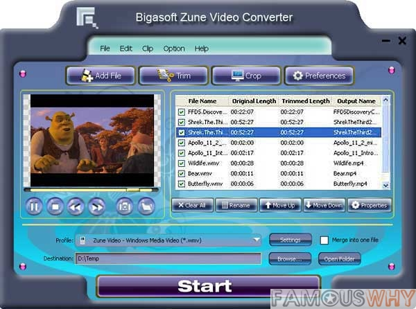 Bigasoft Zune Video Converter 3.7.36.4825