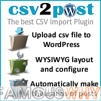 CSV 2 POST PLUS (wordpress csv import plugin)