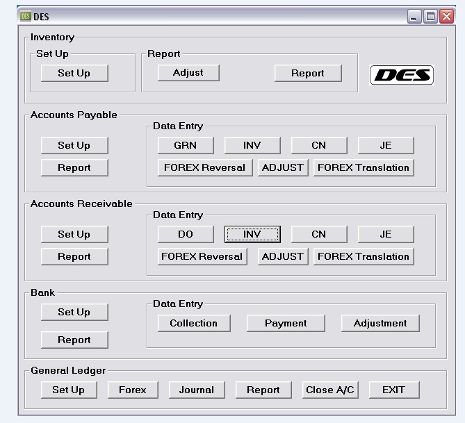 DES (Double-Entry Software)  1.2