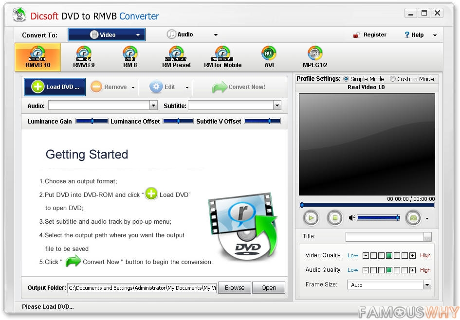 Dicsoft DVD to RMVB Converter