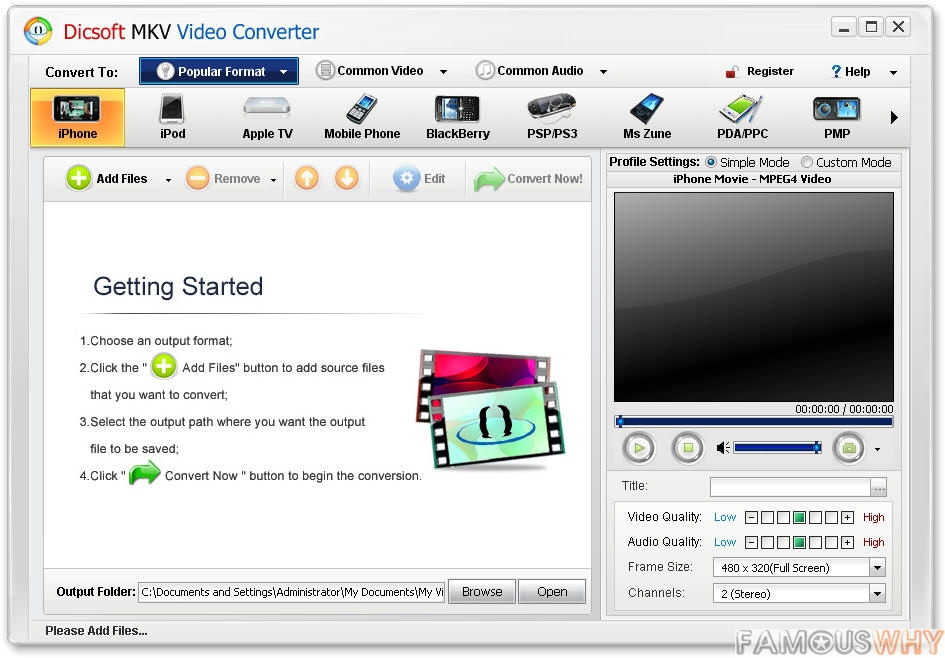 Dicsoft MKV Video Converter