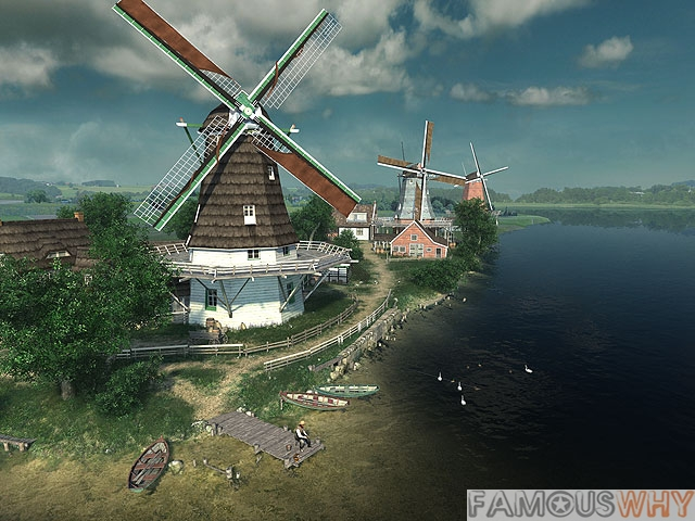 Dutch Windmills 3D Screensaver
