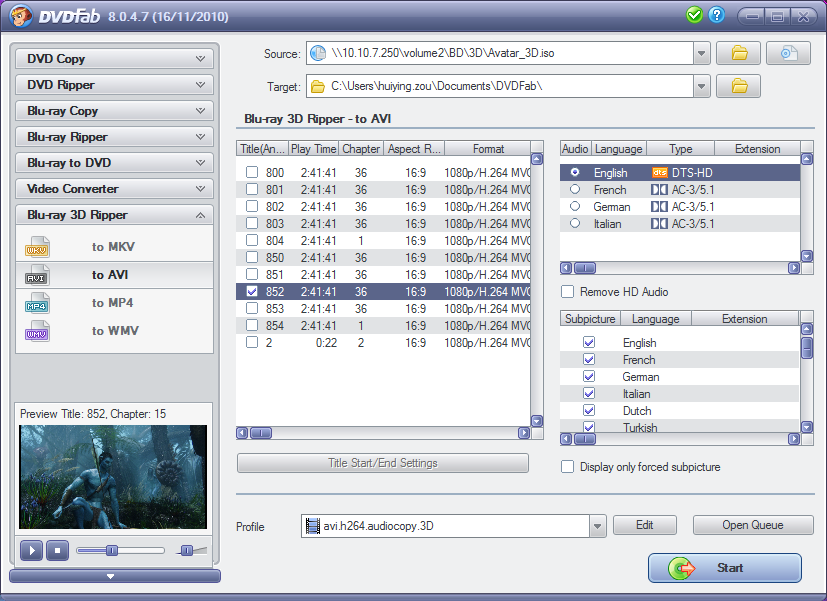DVDFab Blu-ray 3D Ripper 8.2.1.8