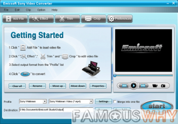 Emicsoft Sony Video Converter 4.0.08