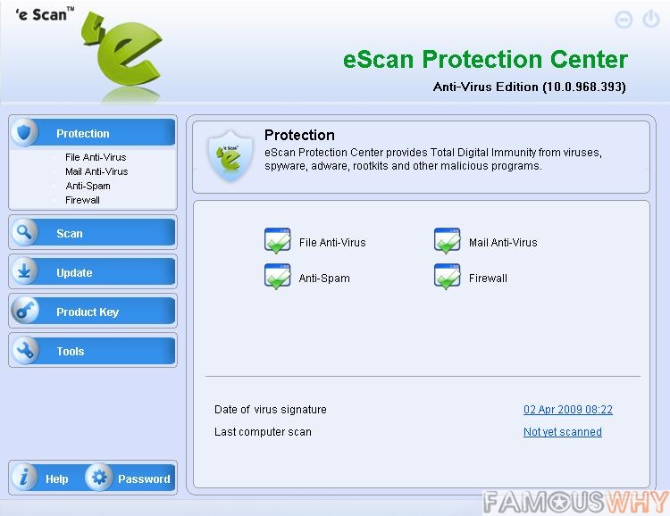 eScan AntiVirus Edition - Home Users 1 User 1 Year