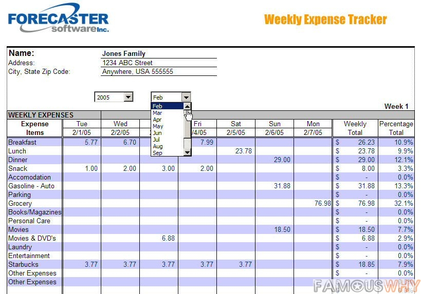 household expense tracker