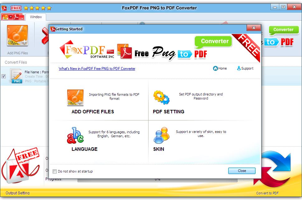 FoxPDF Free PNG to PDF Converter 3.0.1
