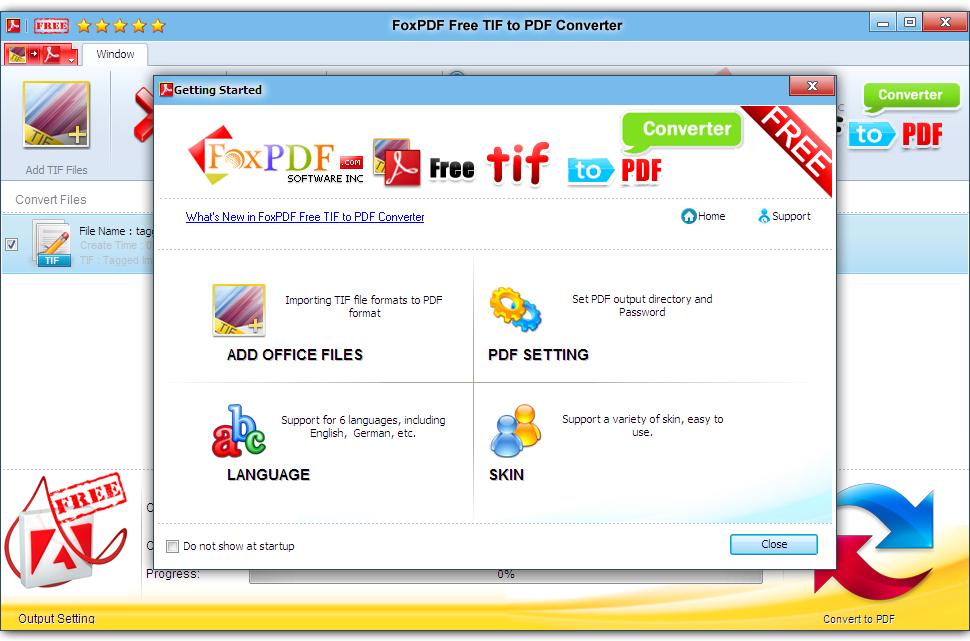 FoxPDF Free TIF to PDF Converter 3.0.1