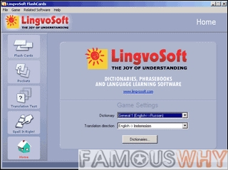 LingvoSoft FlashCards English <-> Indonesian for Windows