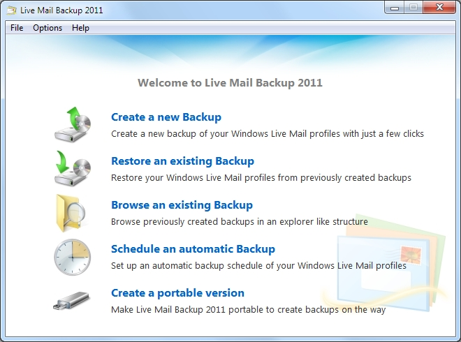 Live Mail Backup 2011 1.0.3.10