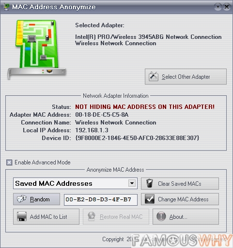 MAC Address Anonymize