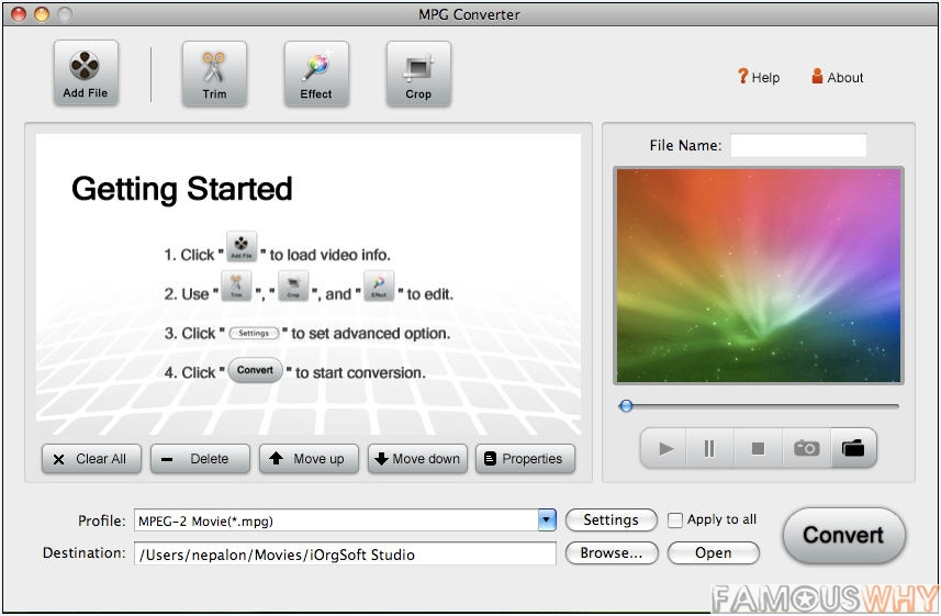 MPG Converter for Mac