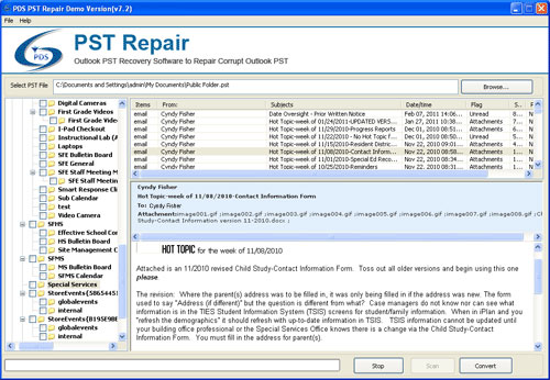 Perfect Data Solutions PST Repair 6.5