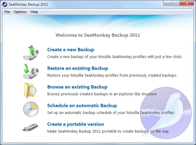 SeaMonkey Backup 2011 1.0.3.10