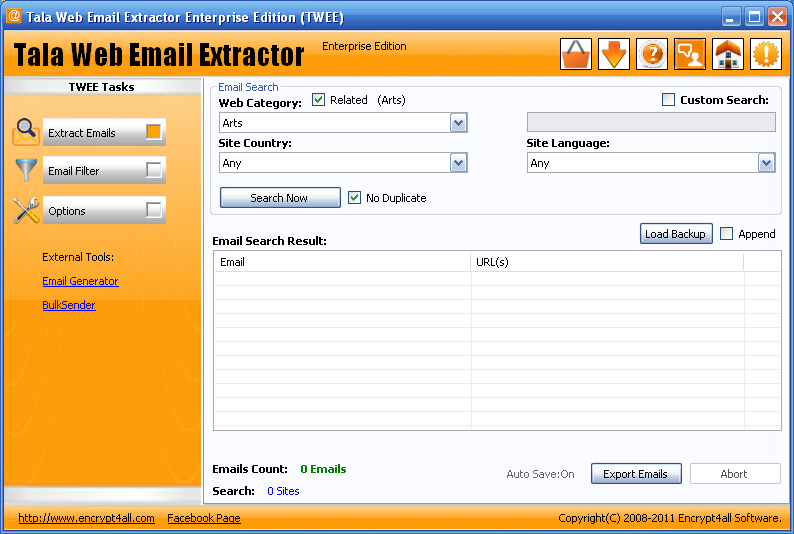 Tala Web Email Extractor Expre Screenshots.