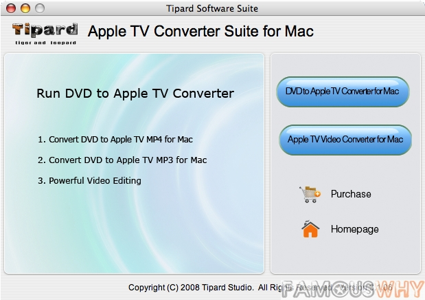 Tipard Apple TV Converter Suite for Mac