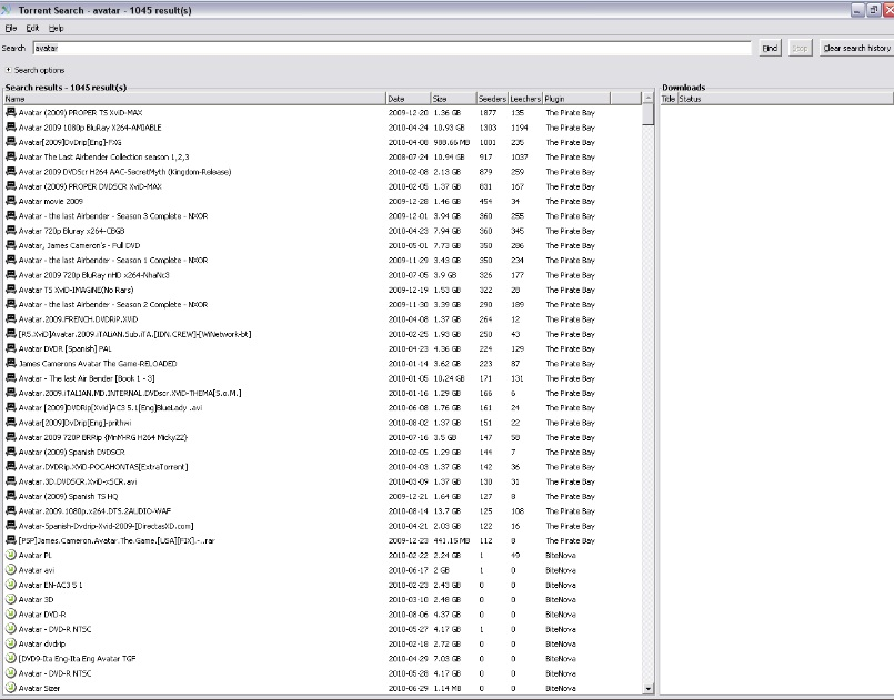 Torrent search  0.9.2