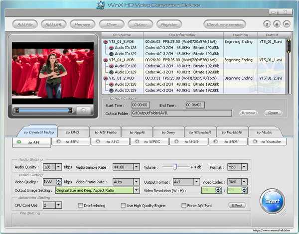 WinX HD Video Converter Deluxe 3.12.4 Build 20121019