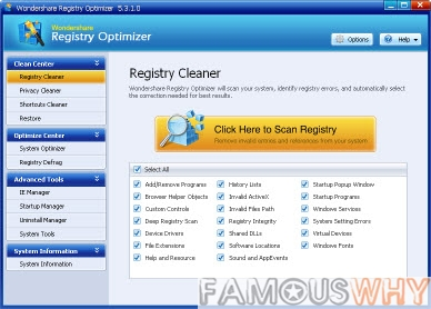 Wondershare Registry Optimizer 5.3.4.0