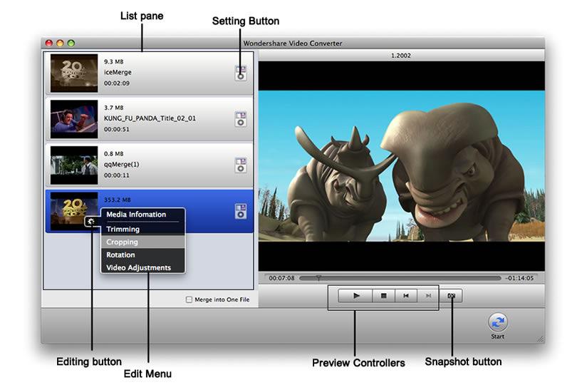 Wondershare Video Converter for Mac App Store 2.5.2
