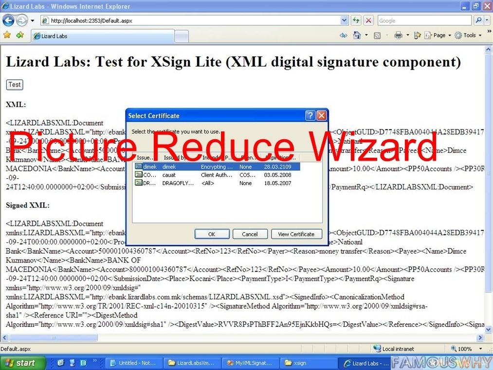 XSign ActiveX for Windows Mobile